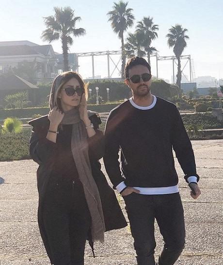 عکس شاهرخ استخری و همسرش