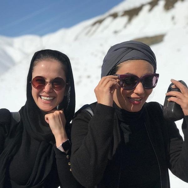 لیندا کیانی و الناز حبیبی بازیگران هفت روز و هفت ساعت
