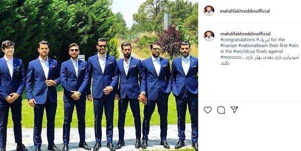 پست اینستاگرام مهدی فخرالدین درباره تیم ملی ایران در جام جهانی 2018