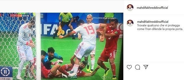 پست اینستاگرام مهدی فخرالدین در جام جهانی 2018
